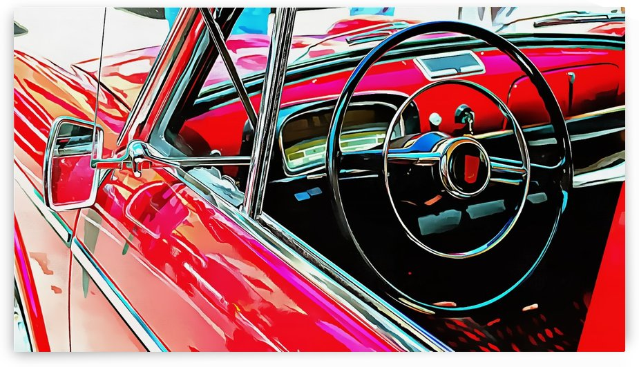 Fiat 1100 D Through The Window by Dorothy Berry-Lound
