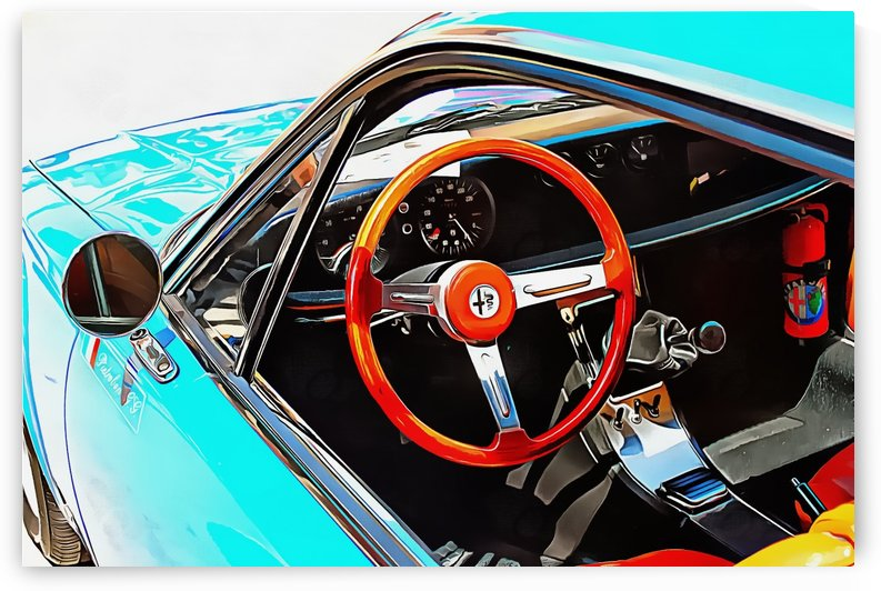 Alfa Romeo 1600Z Through The Window by Dorothy Berry-Lound