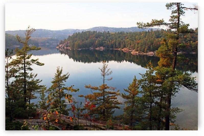 Overlooking George Lake by Deb Oppermann