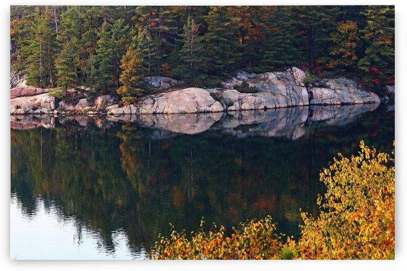 Pink Granite Shore  George Lake by Deb Oppermann