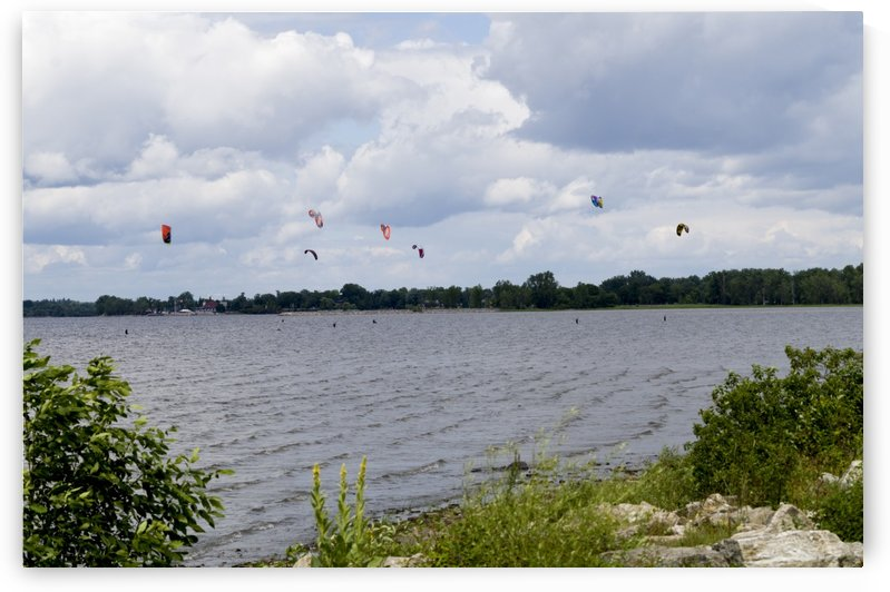Parasailing on the Ottawa River 3 by Bob Corson
