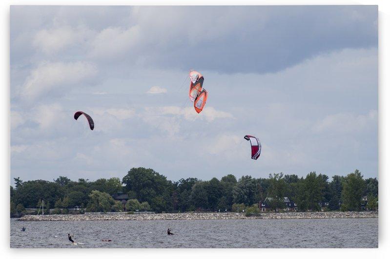 Parasailing on the Ottawa River 2 by Bob Corson