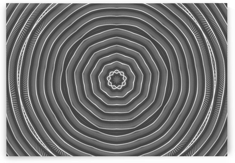 metallic circle flower background by CiddiBiri