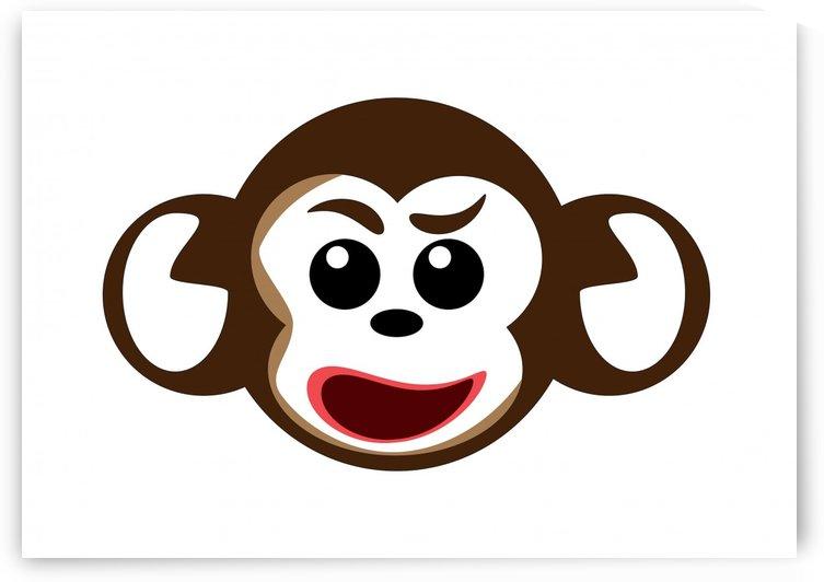 Monkey Head vector  by CiddiBiri