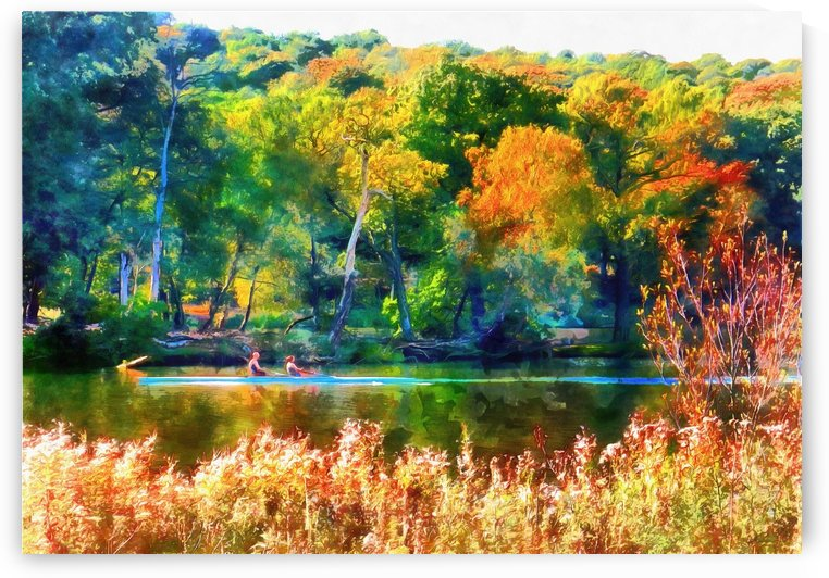 Autumn River Bank by Dorothy Berry-Lound