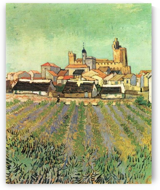 View of Sainte Maries by Van Gogh by Van Gogh
