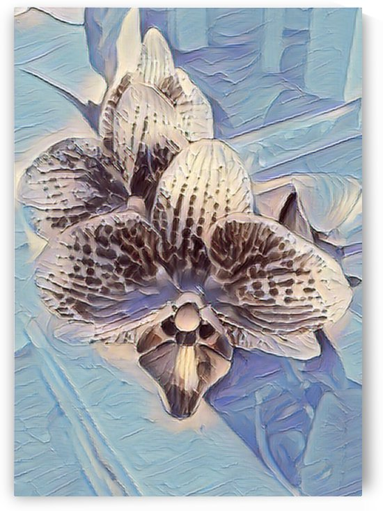 Embossed Orchid Abstraction by Mary Crook