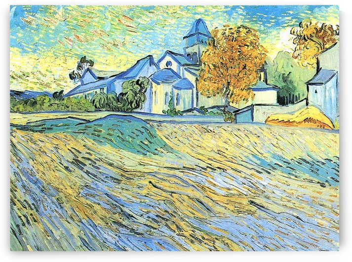 View of the church of Saint-Paul-de-Mausole by Van Gogh by Van Gogh