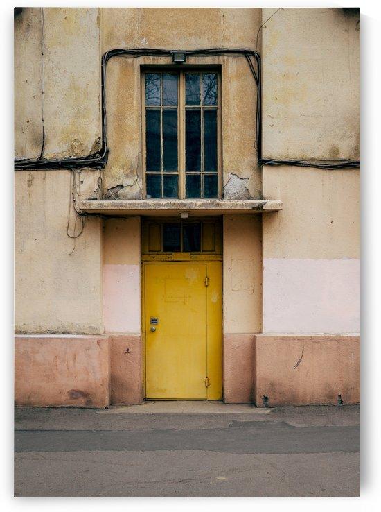Yellow door by Daria Minaeva
