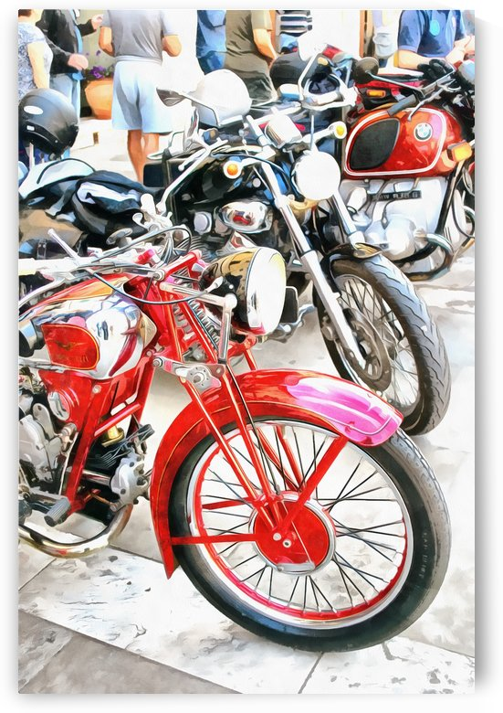 Classic Motorcycles in a Row by Dorothy Berry-Lound