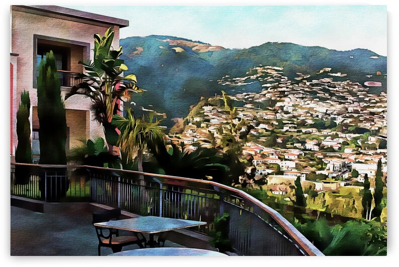 Funchal View Madeira 1 by Dorothy Berry-Lound