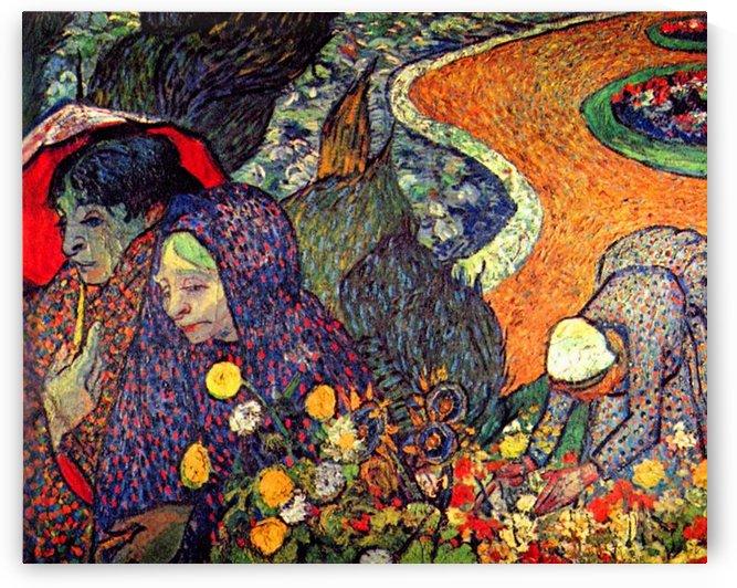 Walk in Arles (memory of the garden of Eden) by Van Gogh by Van Gogh
