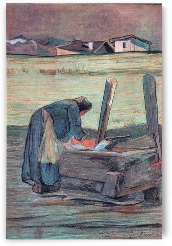 Washer by Giovanni Segantini by Giovanni Segantini