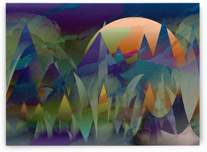Abstract Mountains by Winston Mauricio Casco Sobalvarro