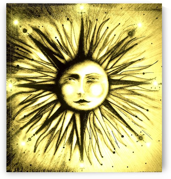 CELESTIAL SUN GOD SUMMER SOLSTICE DRUID DESIGN by jacqueline mcculloch
