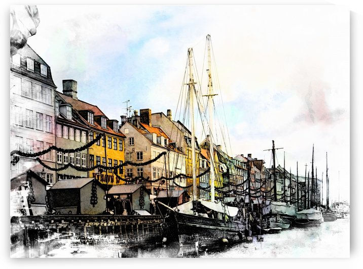 Nyhavn harbour impressions by Dorothy Berry-Lound