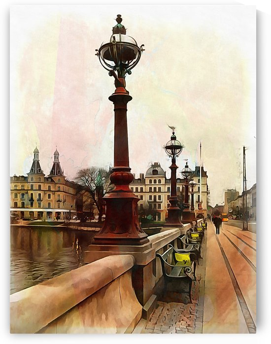 Dronning Louises Bro Bridge Copenhagen 2 by Dorothy Berry-Lound