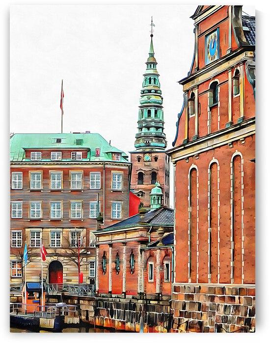 Christiansborg Palace Slotsholmen Copenhagen by Dorothy Berry-Lound