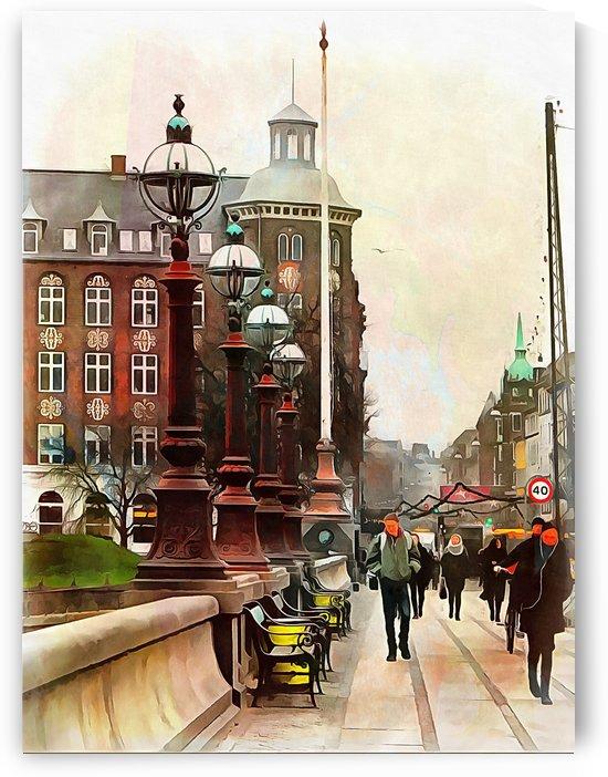 Dronning Louises Bro Bridge Copenhagen by Dorothy Berry-Lound