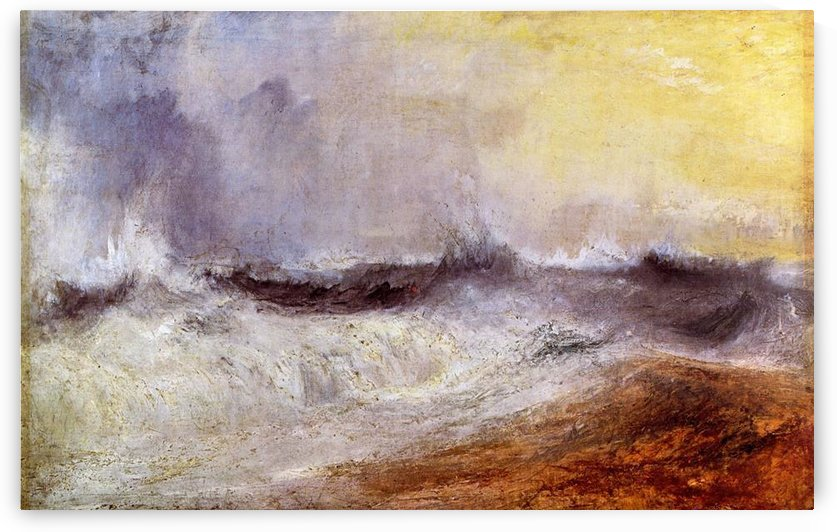 Waves breaking against the wind by Joseph Mallord Turner by Joseph Mallord Turner