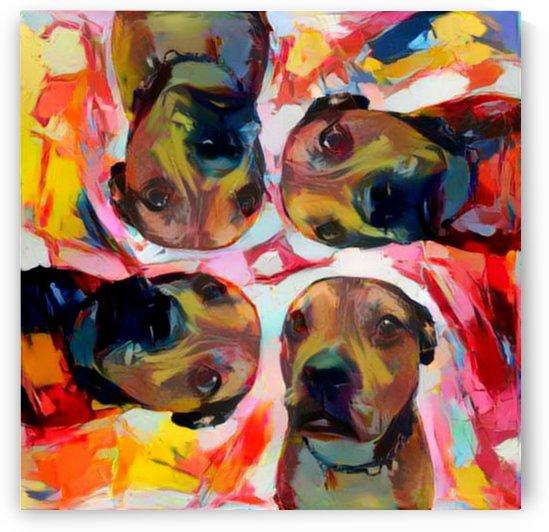 Dog Painting (8) by Ngan Hong Truong