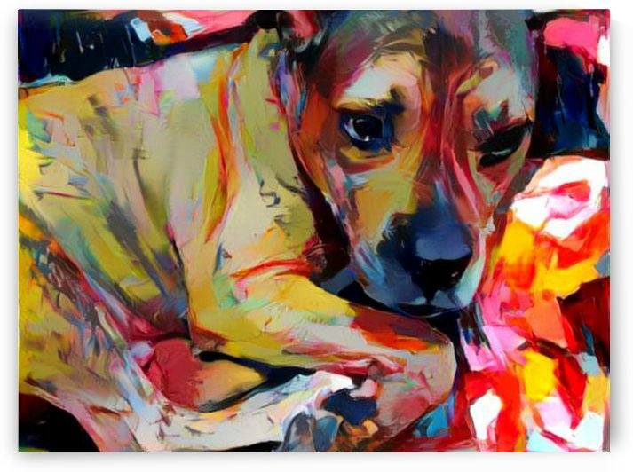 Dog Painting (3) by NganHongTruong