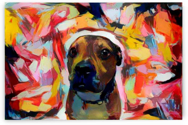 Dog Painting (7) by Ngan Hong Truong