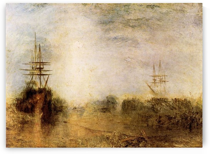 Whalers boiling blubber by Joseph Mallord Turner by Joseph Mallord Turner