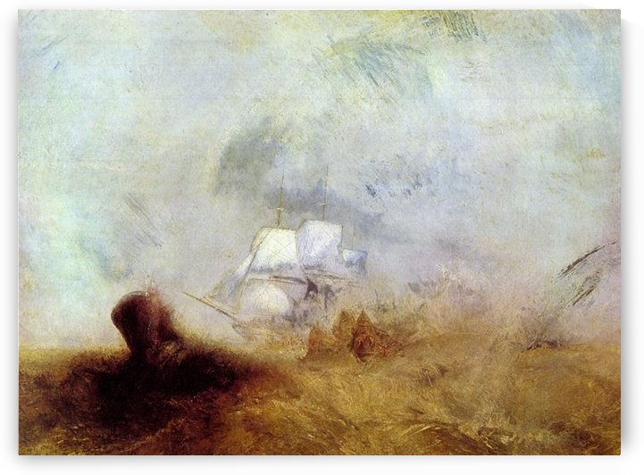 Whalers -2- by Joseph Mallord Turner by Joseph Mallord Turner