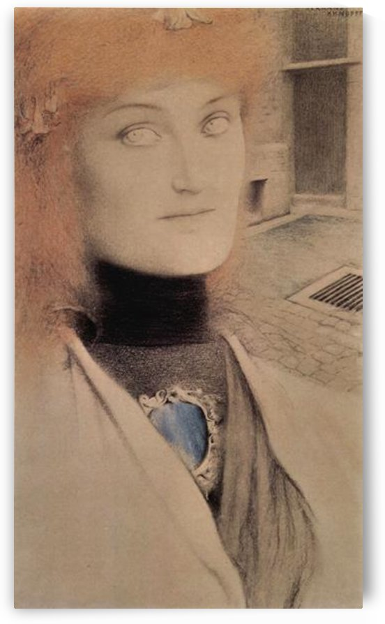 Who will redeem myself by Fernand Khnopff by Fernand Khnopff