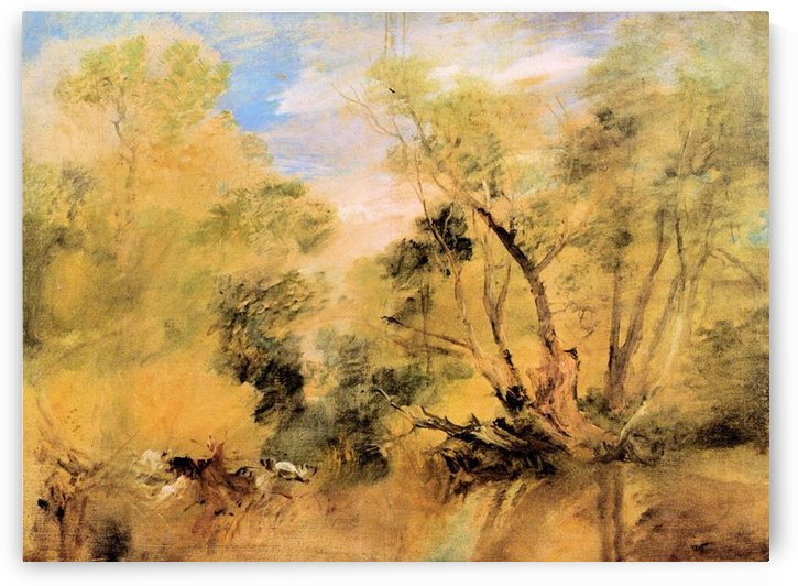 Willows beside a stream by Joseph Mallord Turner by Joseph Mallord Turner