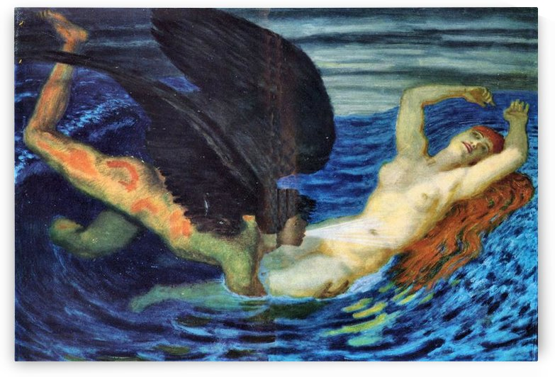 Wind and Wave by Franz von Stuck by Franz von Stuck