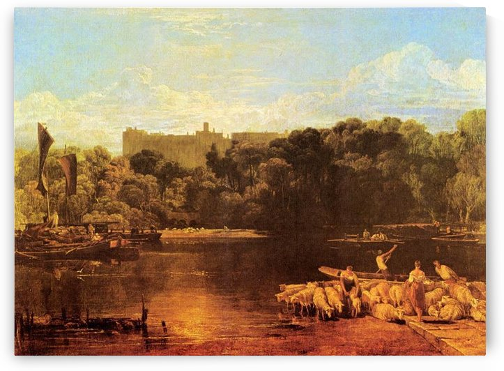 Windsor castle from the Thames by Joseph Mallord Turner by Joseph Mallord Turner