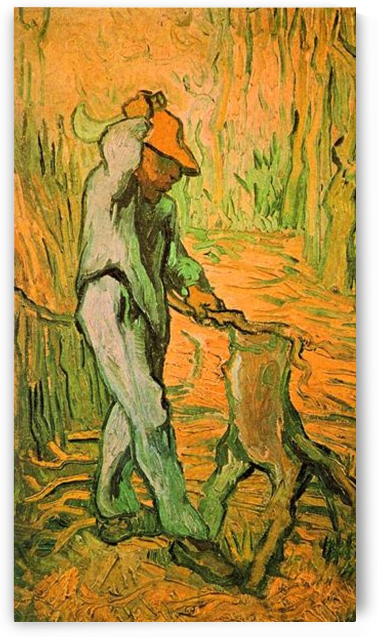Woodcutter (after Millet) by Van Gogh by Van Gogh