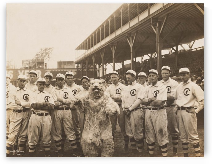 1908 Chicago Cubs team photo by Chad Dollick