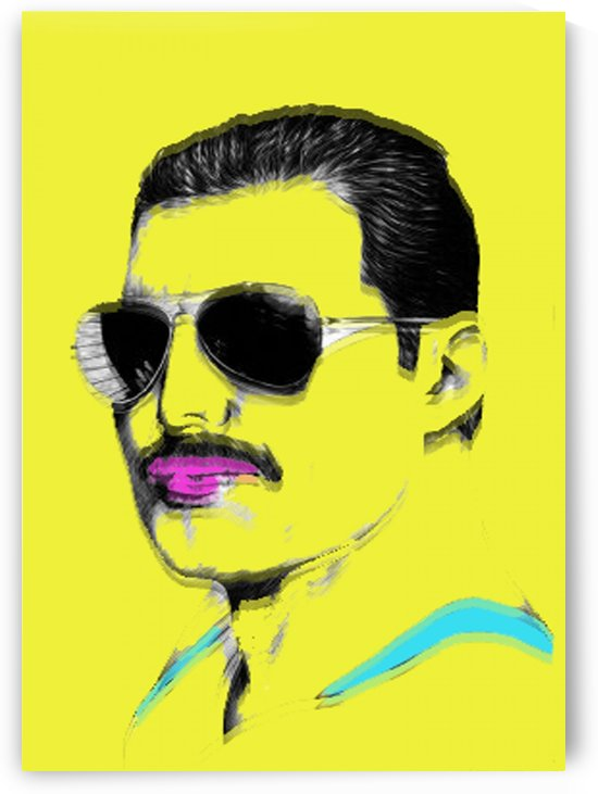 Yellow Freddie Mercury by Gunawan Rb