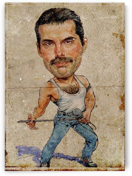 Vintage Caricature Freddie Mercury by Gunawan Rb