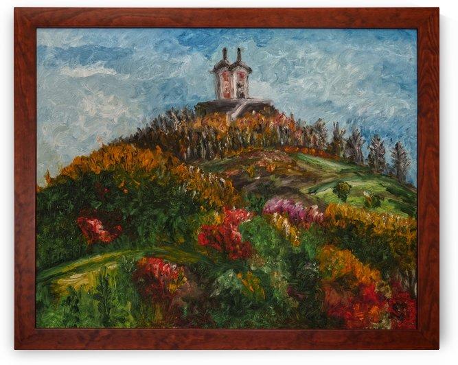 Banska Stiavnica Calvary oil painting Slovakia by Tomas Strelinger by Edwin John