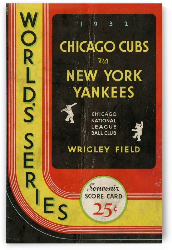 1932 Chicago Cubs World Series Program Cover by Chad Dollick