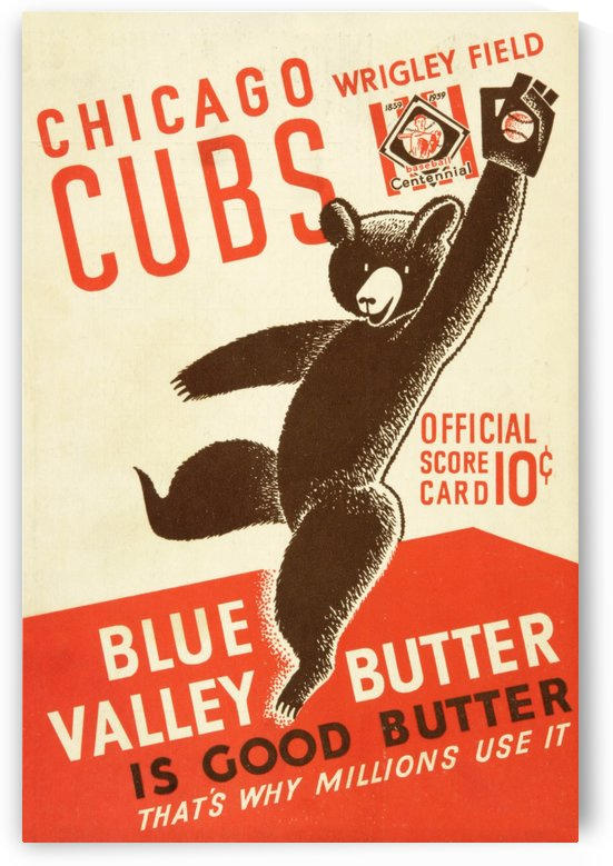 1939 Chicago Cubs Program Cover by Chad Dollick