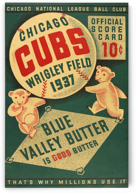1937 Chicago Cubs Program Cover by Chad Dollick