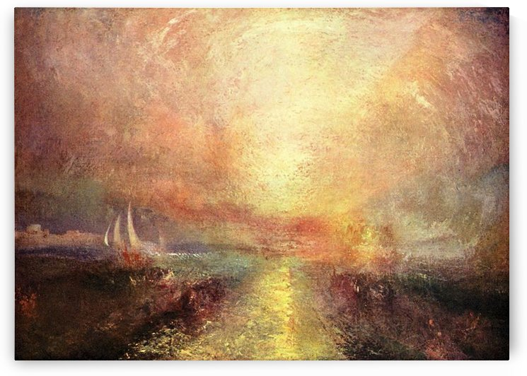 Yacht approaching the coast by Joseph Mallord Turner by Joseph Mallord Turner