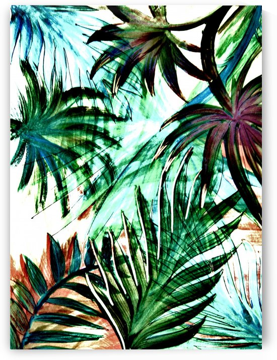 jungle leaves tropical palm tree leaf botanical design by jacqueline mcculloch