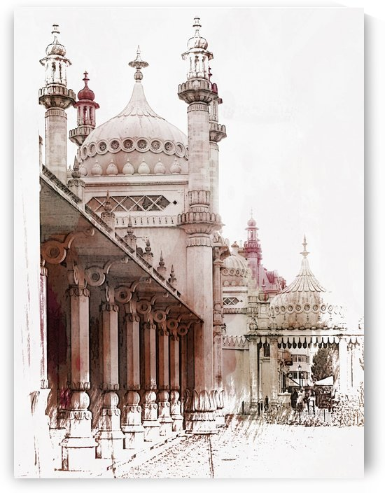 Brighton Pavilion Rear Side View by Dorothy Berry-Lound