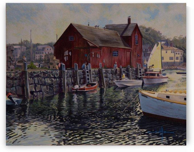 Rockport Harbor  by Larry Schultz