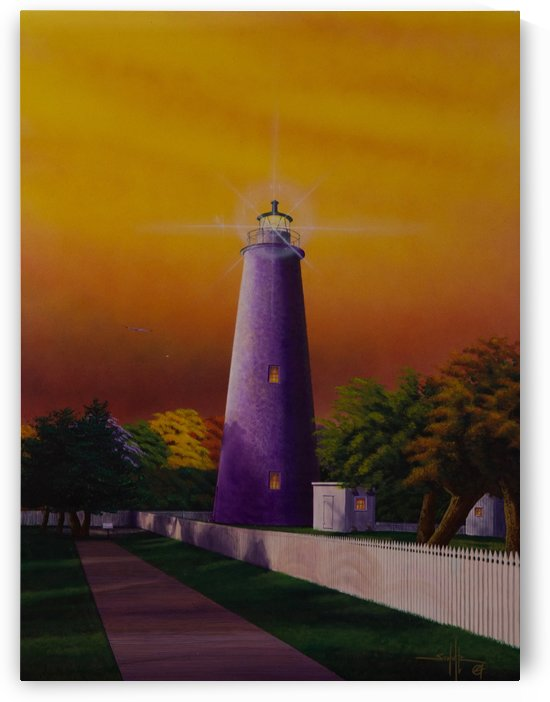 Ocracoke Lighthouse by Larry Schultz