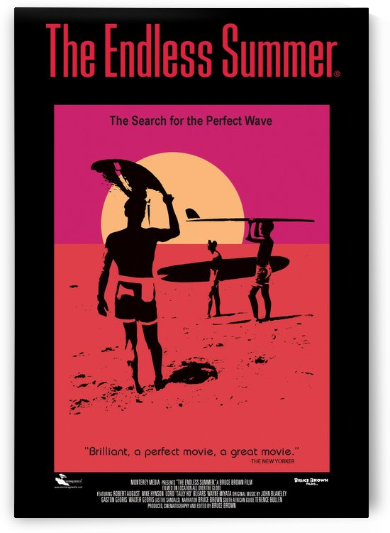 THE ENDLESS SUMMER Movie Poster - Surfing Print by Surf Posters
