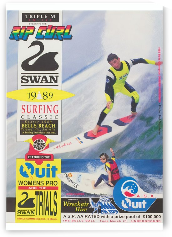 1989 RIP CURL BELLS BEACH EASTER Surfing Championship Competition Print - Surfing Poster by Surf Posters