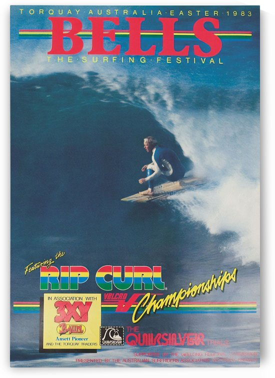 1983 RIP CURL BELLS BEACH EASTER Surfing Championship Competition Print - Surfing Poster by Surf Posters