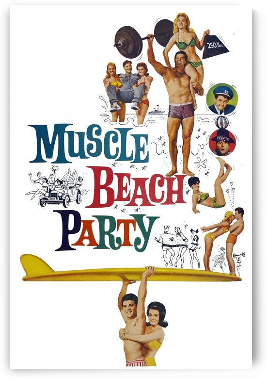 MUSCLE BEACH PARTY - Movie Poster by Surf Posters